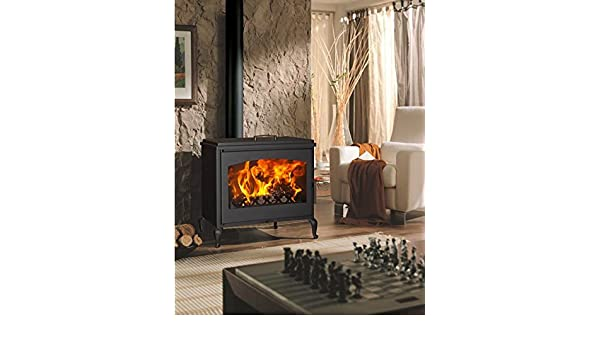 Estufa de leña con horno 12 KW Camera Ventilata 280 m3 11504 Provence: Amazon.es: Hogar