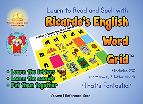 Learn to Read and Spell with Ricardo's English Word GridTM