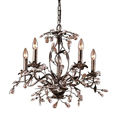 Elk Lighting 8053/5 Crystal 5 Light Up Lighting Chandelier from the Circeo Colle,