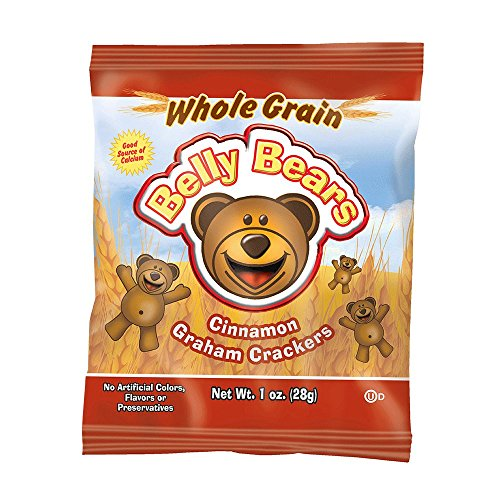 Readi Bake Benefit 51  Whole Grain Pre Packaged Belly Bears  Cinnamon Graham  1 Ounce  Pack Of 200