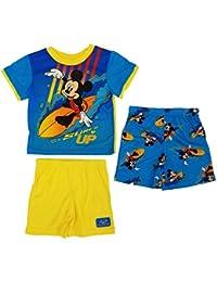 Mickey Mouse Toddler Boys 3pc Surfs up T-Shirt & Shorts Pajama Set