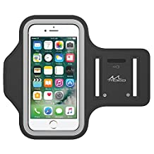 "iPhone 7 / iPhone 6s / iPhone 6 Armband, MoKo Sweatproof Sports Armband Running Arm Band for iPhone 7, 6S, 6, 5S, 5, Galaxy S7, S6 edge, BLU 5.0, Moto G, Black (Fits Arm Girth 10.8""-16.5"")"