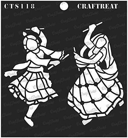 Craftreat Texture II Stencil a tema Distressed Patterns 6X6