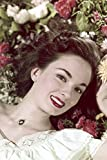 Anne Blythe head surrounded by flowers 18x24 Poster