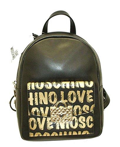 Love Moschino - Bolso mochila para mujer negro negro
