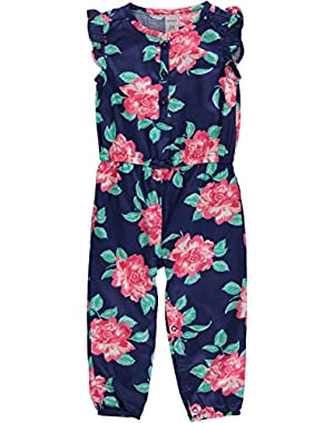 Carters Girls 0-24 Months Floral Jumpsuit