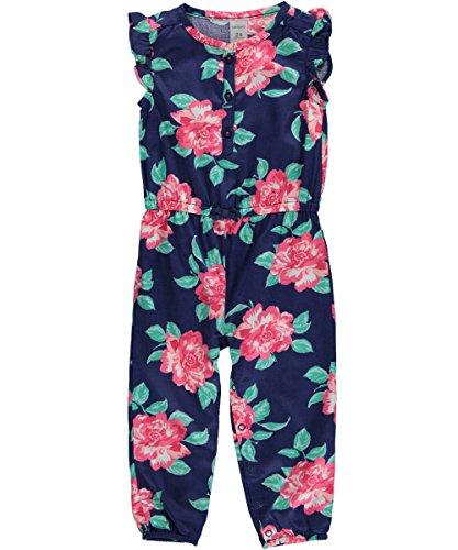 Carters Girls Months Floral Jumpsuit
