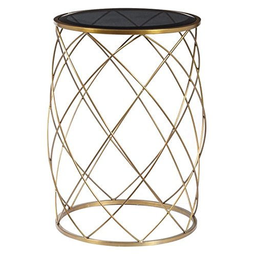 (Pulaski Convex Round Accent Table with Smoked Glass Top)