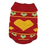JJ Store Pet Puppy Cute Rhombus Knitwear Coat Jumper Sweater Apparel Clothes for Small Medium Dog