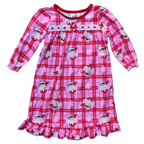 Elf on The Shelf Plaid Christmas Nightgown