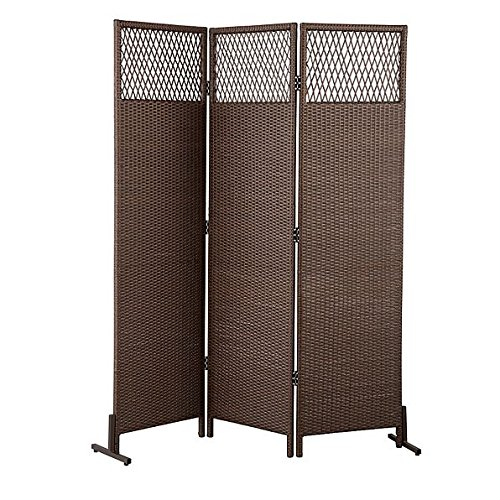 3 Panel Resin Wicker Privacy Screen (Wicker Fence)