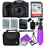 Canon Black PowerShot SX420 + 32GB SD + Accessory Bundle