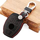 etopmia Leather Car Styling Key Cover Case For Mercedes Benz W211 W203 W204 W210 AMG Class A B C E S ML GL CLA CLK C180 E200 Accessories