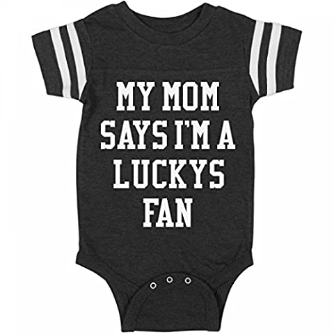 My Mom Says I'm A Luckys Fan:Infant Rabbit Skins Football Bodysuit