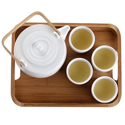 casaWare Serenity 7-Piece Tea Pot Set (White) by casaWare (Image #5)