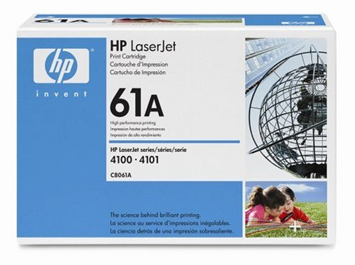 HP Laserjet 61A Black Cartridge in Retail Packaging-C8061A
