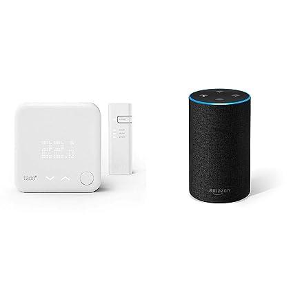 Echo gris antracita + tado° Termostato Inteligente Kit de Inicio V3+ - Control inteligente de