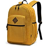 School Backpack for Teens,Chasechic Water-Resistant Classic Lightweight College Bookbag for Women Travel Rucksack Yellow