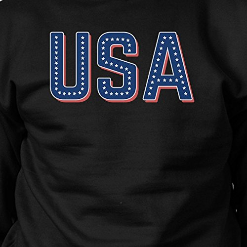 Sweatshirt Taille Unique 365 With Manches shirt Sweat Black Usa Longues Stars Femme Printing 7g07H