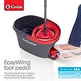 O-Cedar EasyWring Microfiber Spin Mop, Bucket Floor