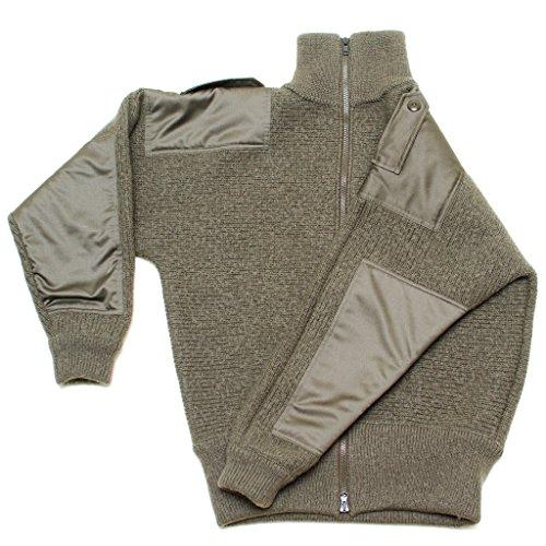 100% Pure Merino Wool European Zippered Outdoor Hunting Travel Sweater Jacket (3XL)