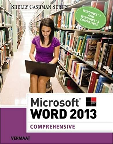 Microsoft Word 2013: Comprehensive (Shelly Cashman Series) Free Download