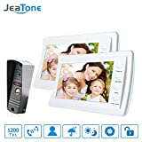 Jeatone 7'' wired doorbell With Storage White Color HD Video Doorphone Intercom Systems 1200TVL Camera Home Security Kit 2V1