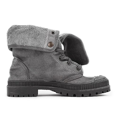 Vegan Gris Grey Boton Bota Woman Natural World P58qww