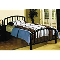 FULL SIZE METAL BED IN ESPRESSO FINISH BY POUNDEX