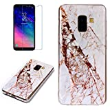 for Samsung Galaxy A8 2018 Marble Case with Screen
