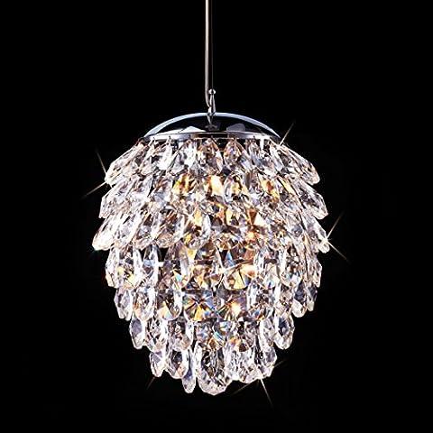 Saint Mossi Crystal Rain Drop Chandelier Modern & Contemporary Ceiling Pendant Light 3 E12 Bulbs Required H43