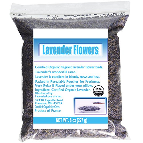 CCnatrue French Lavender Flowers USDA Organic Dried Culinary Lavender 8oz by CCnature