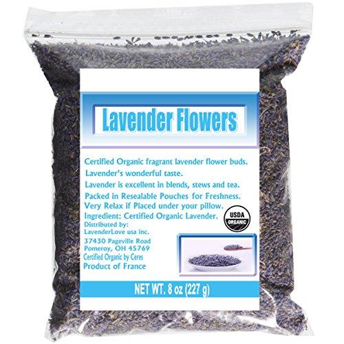 CCnatrue French Lavender Flowers USDA Organic Dried Culinary Lavender 8oz - Lavender Herb