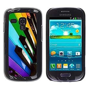 Be Good Phone Accessory // Dura Cáscara cubierta Protectora Caso Carcasa Funda de Protección para Samsung Galaxy S3 MINI NOT REGULAR! I8190 I8190N // Colorful Piano Keys
