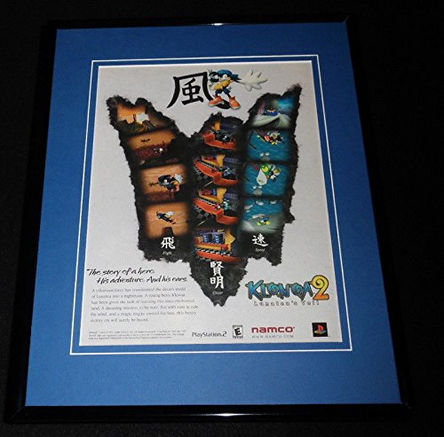 Klonoa 2 2001 Playstation 11x14 Framed ORIGINAL Advertisement