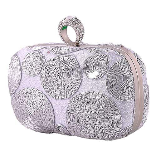Silver Black Mujeres Bolso Mano color Del De Lady Las Crossbody Uzanesx Monedero Embrague Craft S7OwWq
