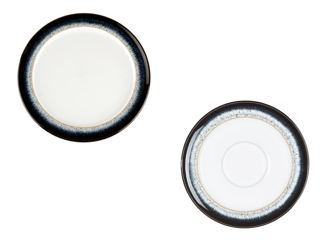 Denby Halo Small Plate and Tea/Coffee Saucer, Set of 8