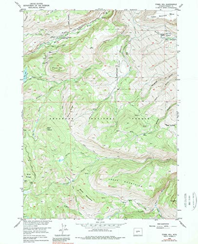 YellowMaps Fossil Hill WY topo map, 1:24000 Scale, 7.5 X 7.5 Minute, Historical, 1953, Updated 1979, 26.7 x 21.7 in - Paper