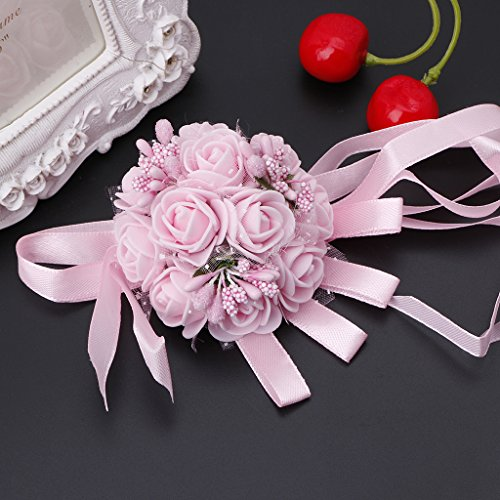 07 Bouquet (Susada Beautiful Wrist Corsage Bracelet Bridesmaid Sisters Hand Flowers Wedding Party (07))