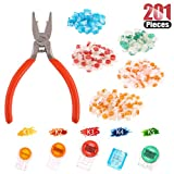 Hilitchi 200 Pcs Telephone Wire Connector Wire Butt Splice Connector UY/UY2/UR/UR2/UG Crimp Terminal Connectors Assortment Kit - with One Connector Crimping Pliers