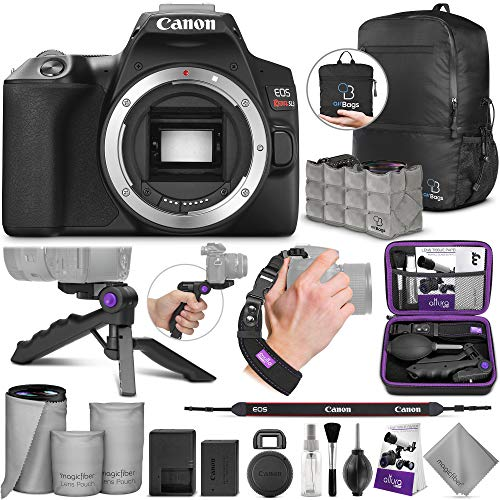 Canon EOS Rebel SL3 DSLR Camera Body with Altura Photo Essential Accessory and Travel Bundle from Canon