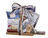 Remarkable Gift Co. Gourmet Food with Bamboo Cutting Board Holiday Gift Set