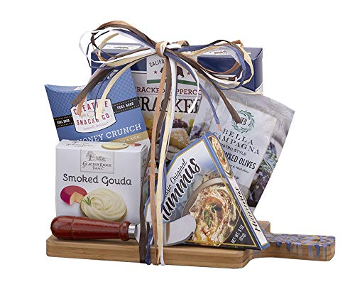- Remarkable Gift Co. Gourmet Food with Bamboo Cutting Board Holiday Gift Set