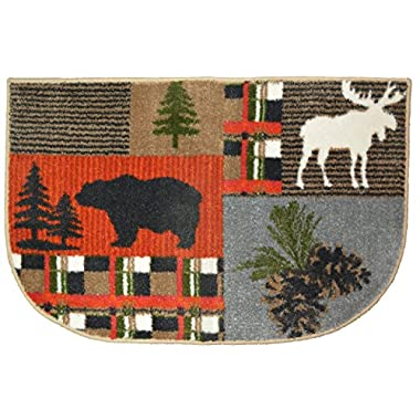 Wholesale Rug Source Bear Moose Nonskid (Non Slip) Cute Lodge Pinecone Kitchen Mat Rug, 19  W x 29  L