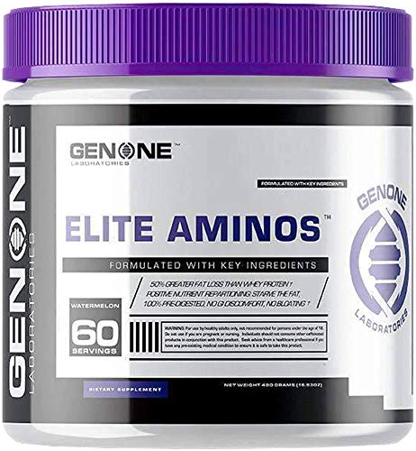 GenOne Nutrition- Oxy Lean Elite Aminos- BCAA Amino Acids Powder, Enhanced Endurance, Energy Booster, Branch Chain Amino Acids Formula, Essential Amino Acids, Recovery Fuel, 30 Servings (Watermelon)