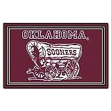 FANMATS NCAA University of Oklahoma Sooners Nylon Face 4X6 Plush Rug