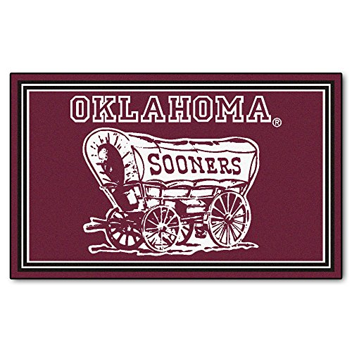FANMATS NCAA University of Oklahoma Sooners Nylon Face 4X6 Plush Rug by Fanmats