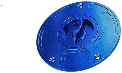 Tap/ón Dep/ósito Tapa de Tanque De Gasolina de Combustible sin Llave CNC para Yamaha YZF R1 R6 FZ8 FZ1 FZ1 FAZER All Azul