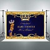Riyidecor Crown Royal Prince Backdrop Kids Black Africa Boy Photography Background 7x5ft Studio Baby Shower Blue Yellow Newborn Props Photo Birthday Party Photo Shoot Backdrop Blush Vinyl Cloth