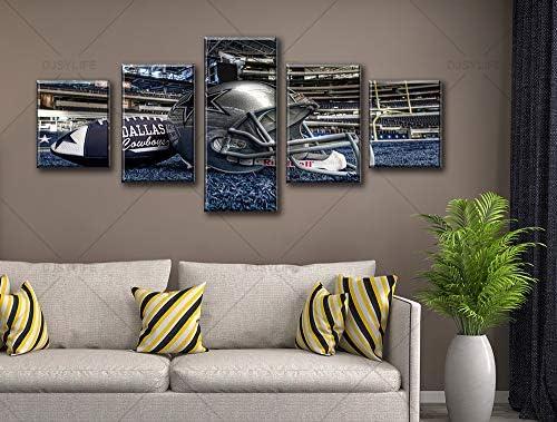 Dallas Cowboys Painting Muti-Panel Wall Art Home Decoration Living Room Bedroom
